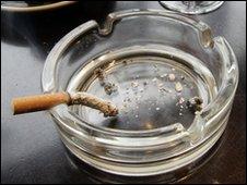 Cigarette in ashtray (AP)