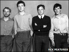 Joy Division with Ian Curtis second left