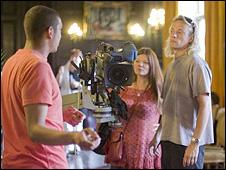 Director Deborah Hadfield at work on The Kindness of Strangers