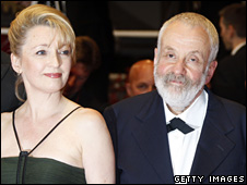 Lesley Manville and Mike Leigh at the Cannes premiere of Another Year