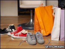 Trainers and shopping bags