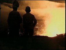 Workers in a steel works
