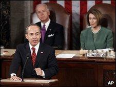Felipe Calderon addresses US Congress