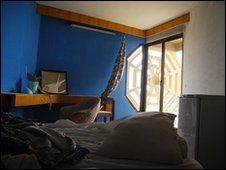 Hotel room at the Palestine Hotel