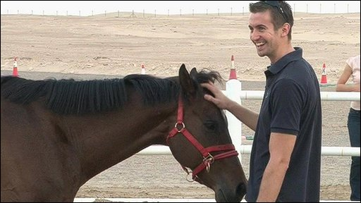 Ben Thompson with new horse friend