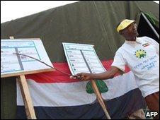 Election official explains voting process