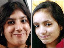 From left: Nabiha and Maleha Masud