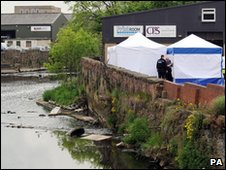 Police at the River Aire