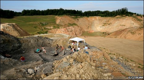 Palaeontologists looking for dinosaur fossils in Hungary