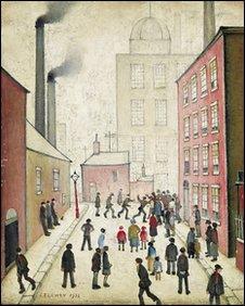 LS Lowry's The Street Brawl