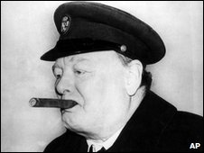 Sir Winston Churchill with one of his trademark cigars
