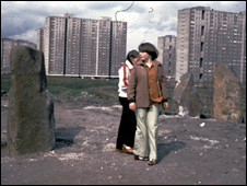 Standing stones in Sighthill
