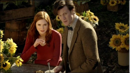 The Doctor and assistant Amy in Curtis' episode