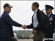 Obama arrives in Louisiana