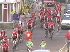 Cyclists in Corsham
