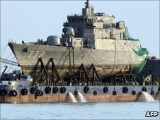 Wreckage of the Cheonan warship (24 April 2010)