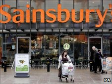 Sainsbury's store in south east London
