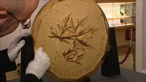 World's biggest coin.