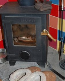 stove and slippers