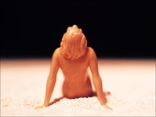 David Levinthal Polaroid of a toy figurine