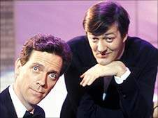 Hugh Laurie and Stephen Fry in A Bit of Fry and Laurie