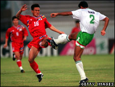 Joo Sung Kim of South Korea and Samir of Iraq, in 1993