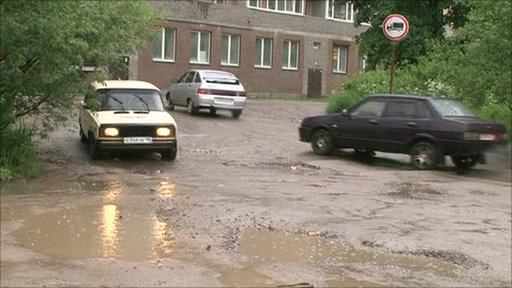 One of the roads in St Petersburg