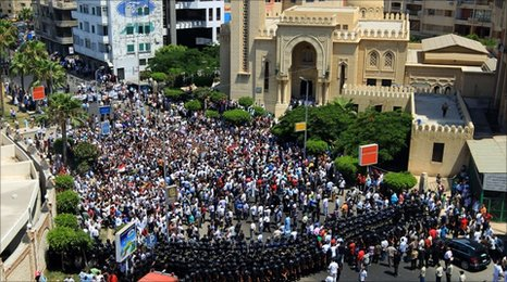 Egyptians protest in Alexandria, 25 June