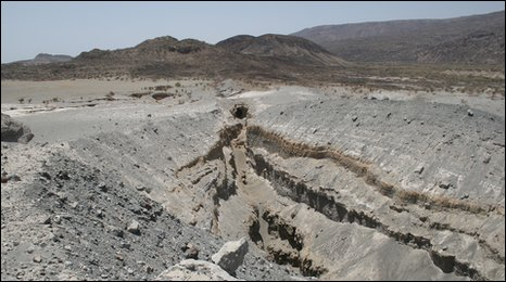 A 60km crack opened in Ethiopia in 2005 and has been expanding  ever since