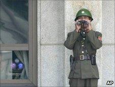 File image of North Korean soldier in Panmunjom