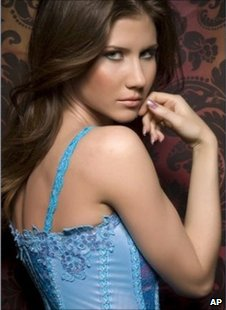 "A woman identified by reporters as Anna Chapman in an image taken from her Facebook page and marked ""added May 23"""