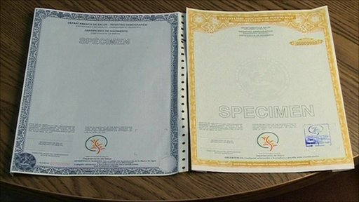 Old and new birth certificates