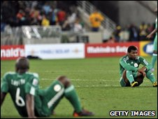 Nigerian team  after the draw with North Korea