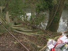 A26 crash scene at Little Horsted