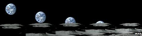"""""""Earthrise"""" filmed by Kaguya (Jaxa)"""