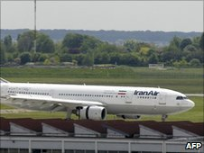 Iran Air passenger jet at Paris-Orly airport (file image)