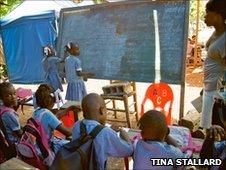 Schoolchildren in Haiti