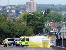 Scene of shooting in Hendon Way