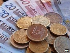 Euro notes and coins (file image)