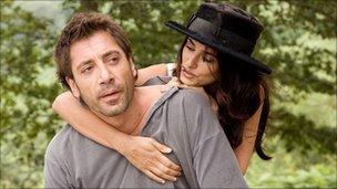 Javier Bardem and Penelope Cruz in Vicky Cristina Barcelona (Optimum Pictures)