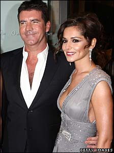 Simon Cowell and Cheryl Cole at the National Television Awards in January
