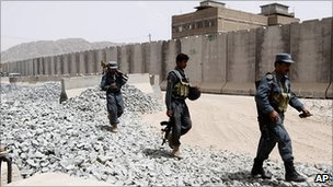 Afghan police base in Kandahar