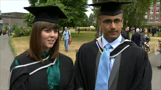 University of Birmingham graduate students Kim Anthony and Ash Sharma