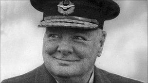 File photograph of Winston Churchill
