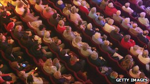 A theatre audience photographed from above