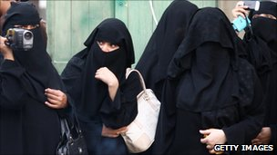 Veiled women in Damascus, Syria (file image)