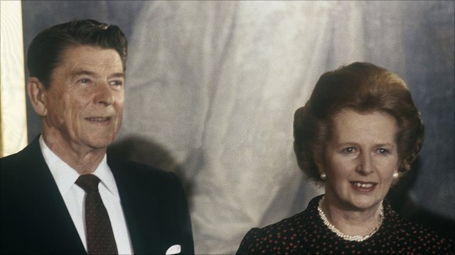 Margaret Thatcher and President Reagan