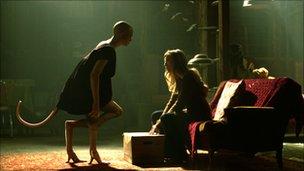 Delphine Chaneac as Dren and Sarah Polley as Elsa