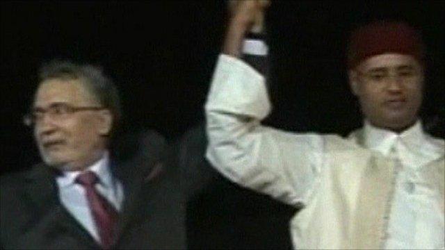 Abdelbaset al-Megrahi arriving in Libya