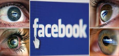 Facebook logos shown on eyes